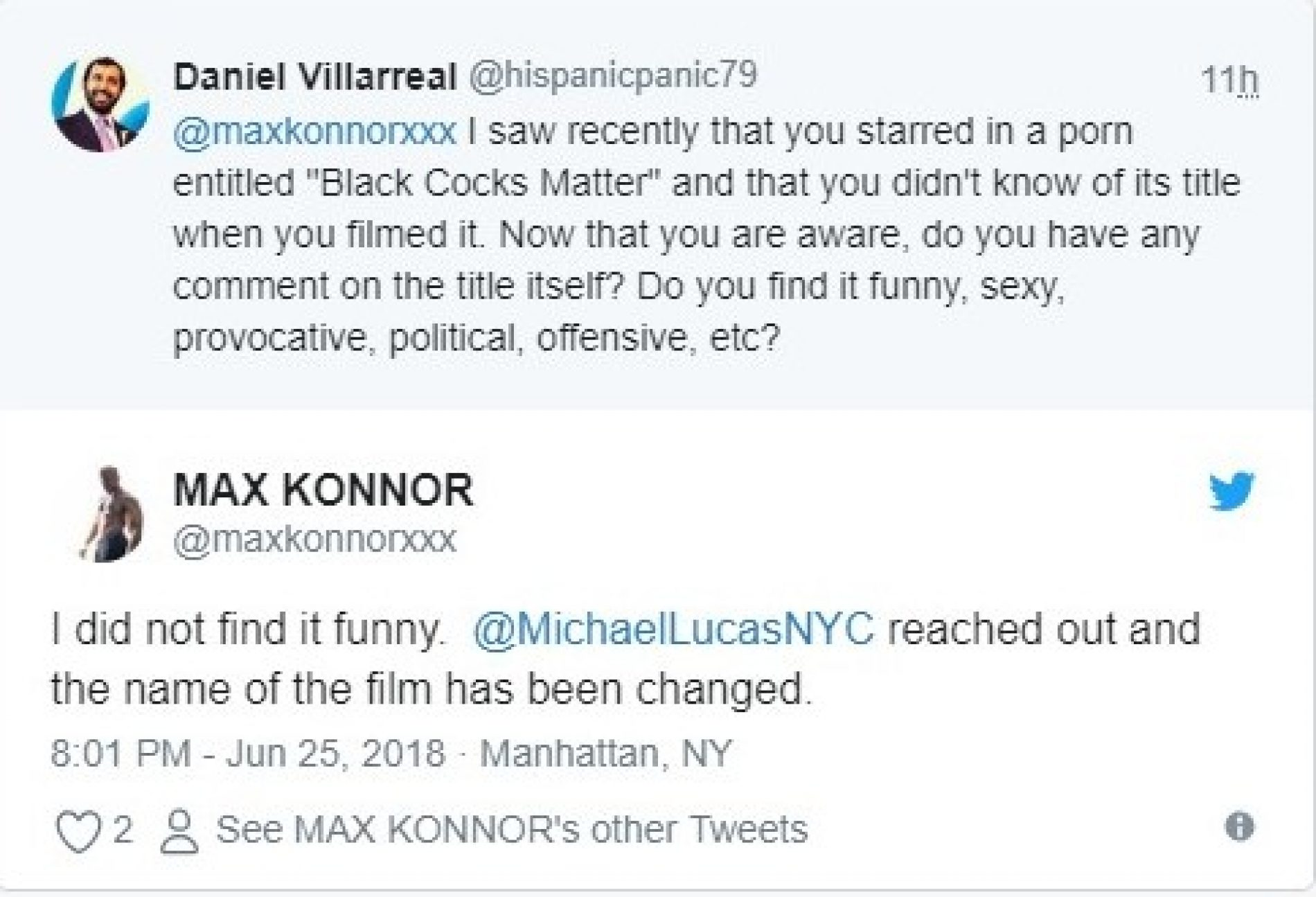 Lucas Entertainment Changes 'Black Cocks Matter' Name After Allegedly Not Telling Black Actors The Title