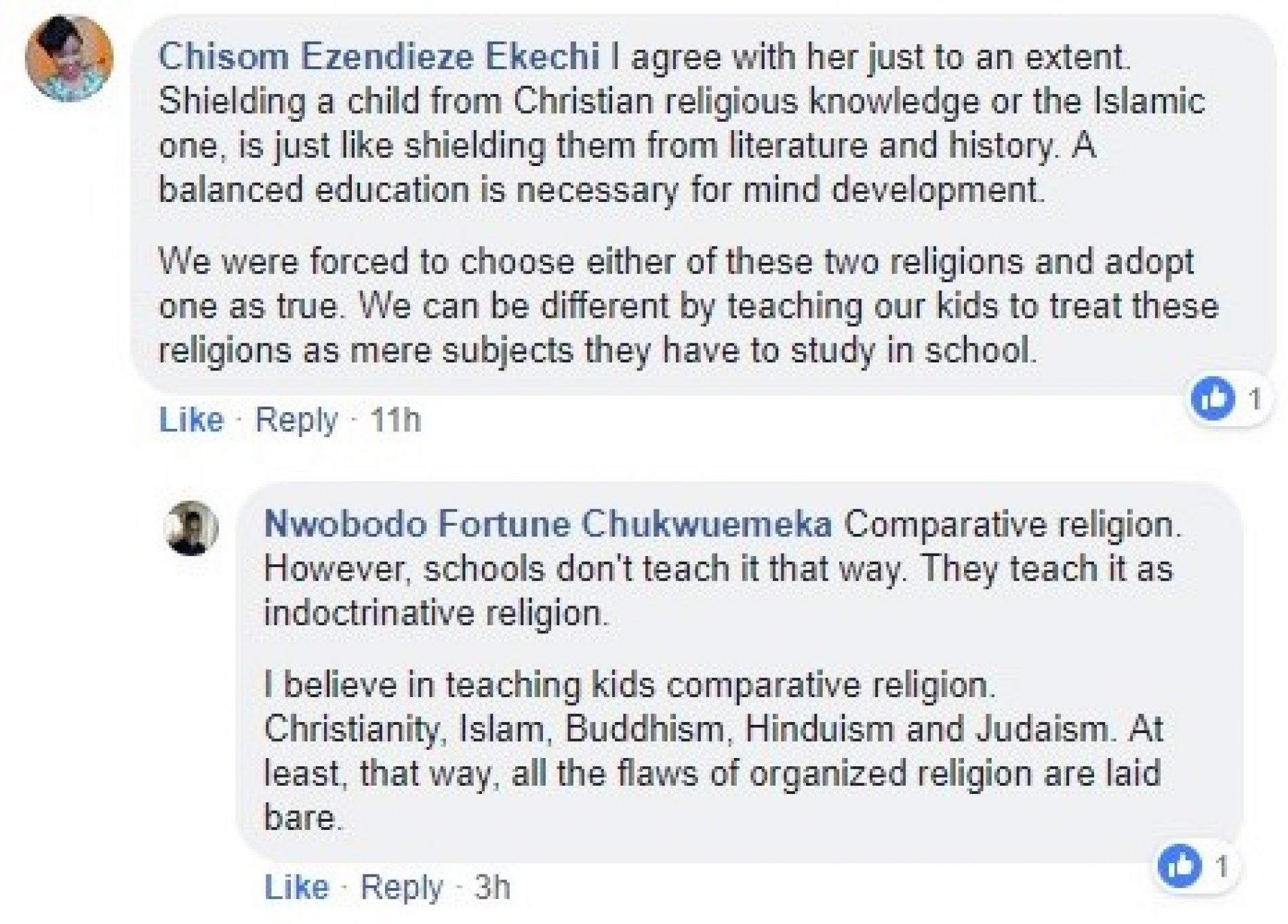 Pamela Adie talks about raising her children sans religion