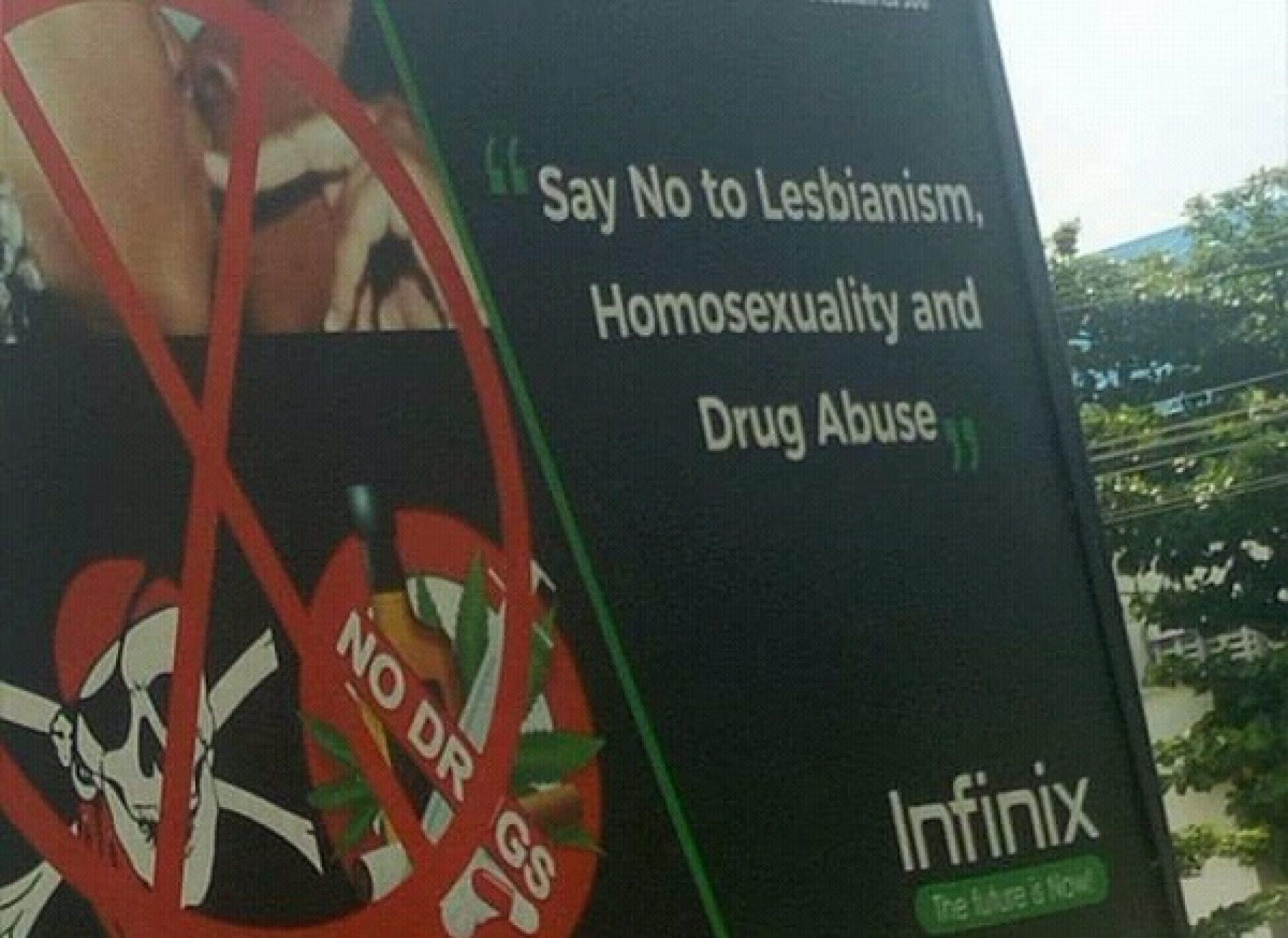 Photo: Infinix Nigeria and its homophobia