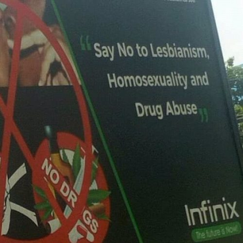 Photo: Infinix Nigeria and its homophobia