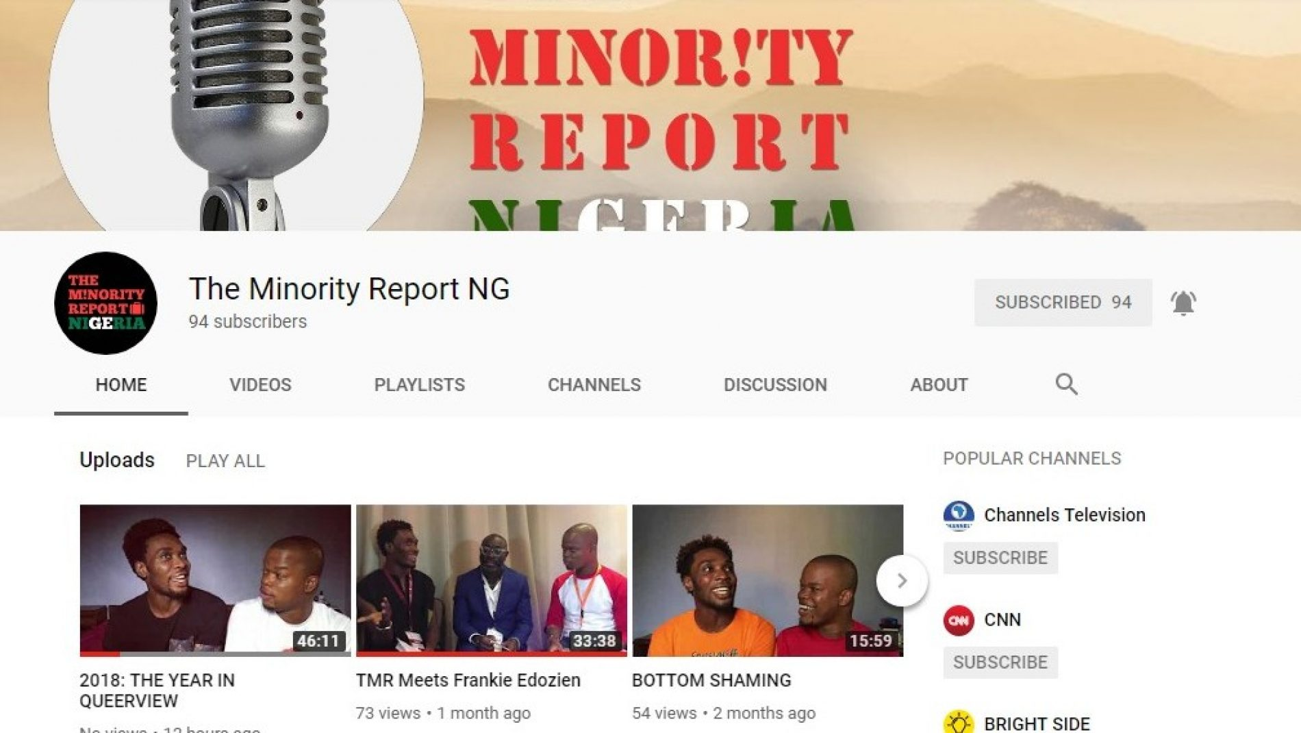 'The Minority Report Nigeria' wraps up the year with a recap of all of 2018's queerness