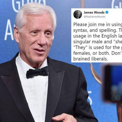 Actor James Woods posts transphobic tweet and the Dictionary schools him on that
