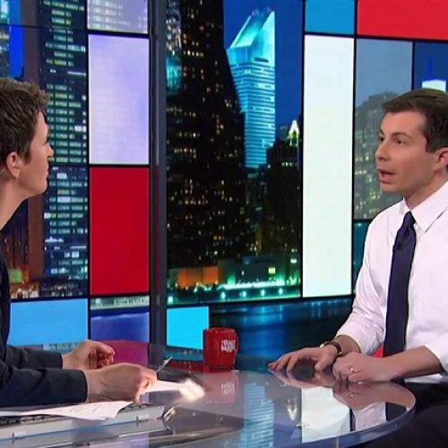 Pete Buttigieg and Rachel Maddow talk about coming out during moving interview