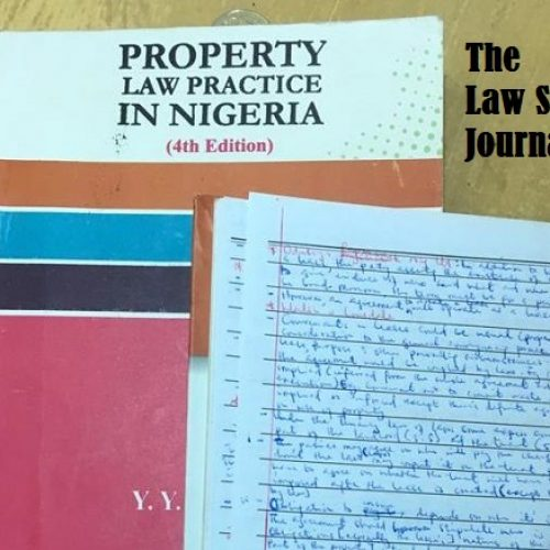 The Law School Journal (Entry 4)