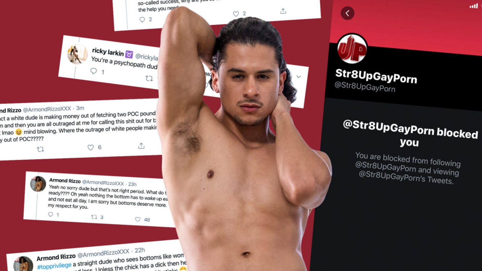 """Top Vs. Bottom"" Twitter Drama unfolds in the wake of Porn Star Armond Rizzo Calling Out Pay Disparity In Porn Industry"