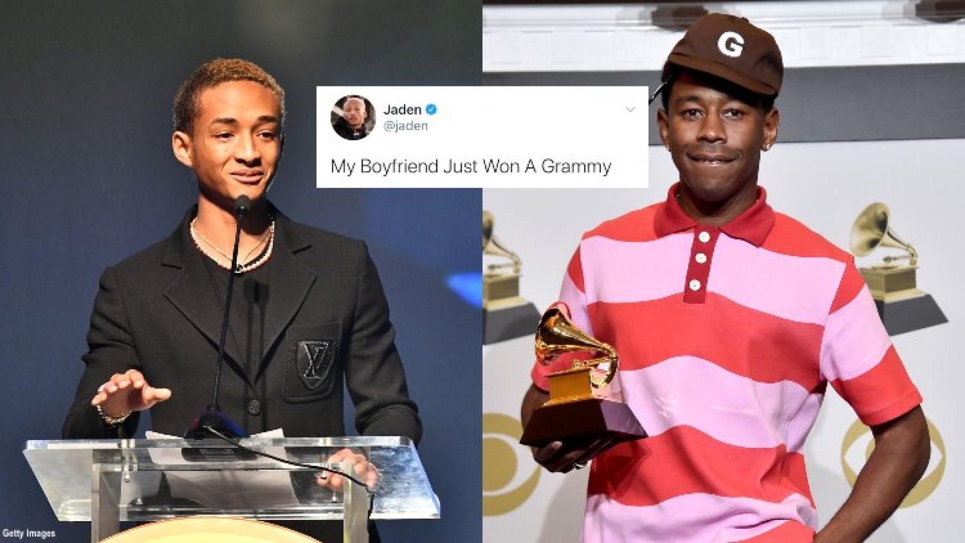 Jaden Smith Congratulates 'Boyfriend' Tyler, The Creator On His Grammy Win