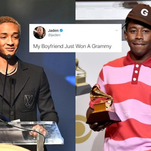 Jaden Smith Congratulates 'Boyfriend' Tyler, The Creator On His Grammy Win