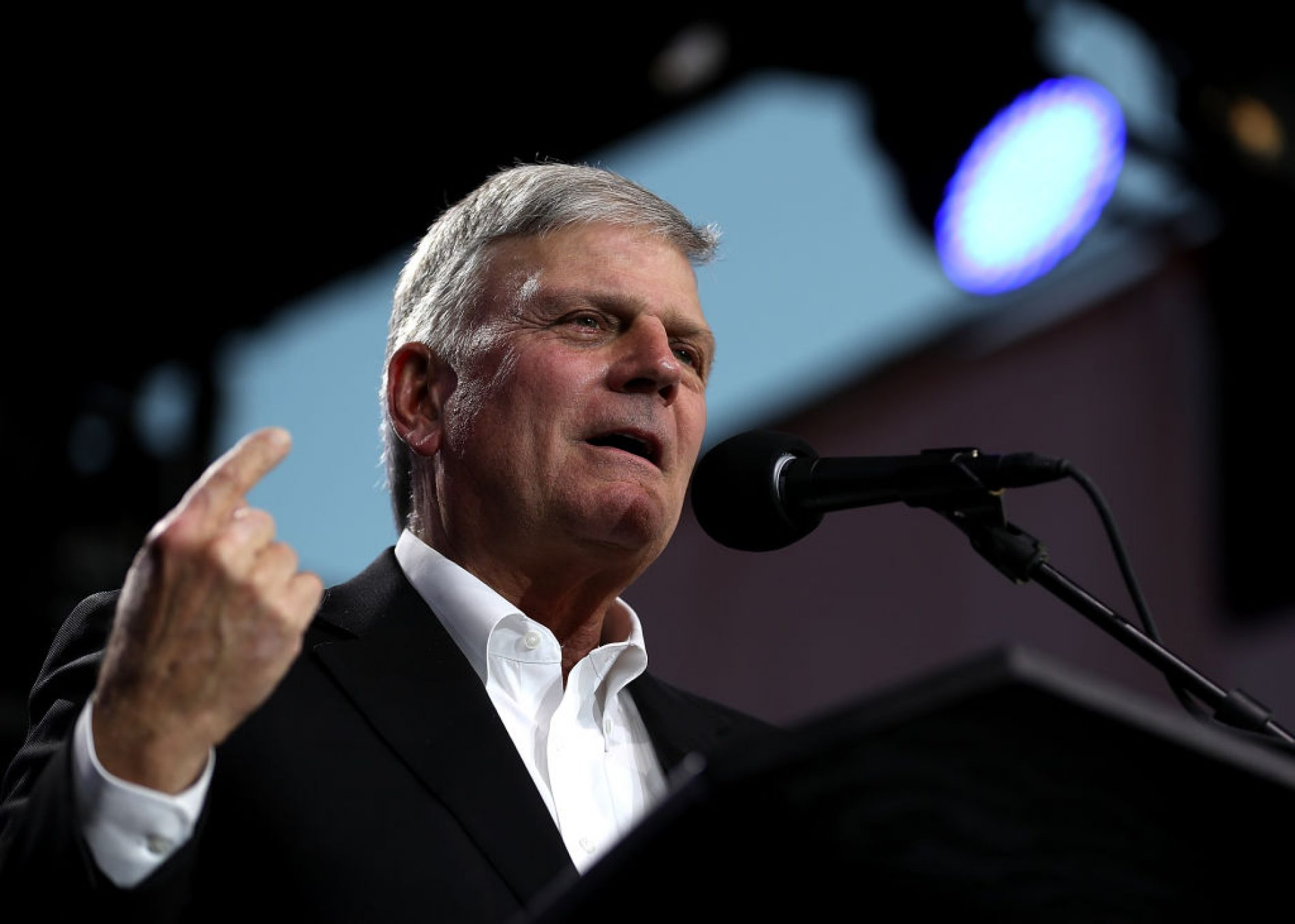 """Hate preacher Franklin Graham says he's not homophobic but that LGBTQ people are """"truthophobic"""""""