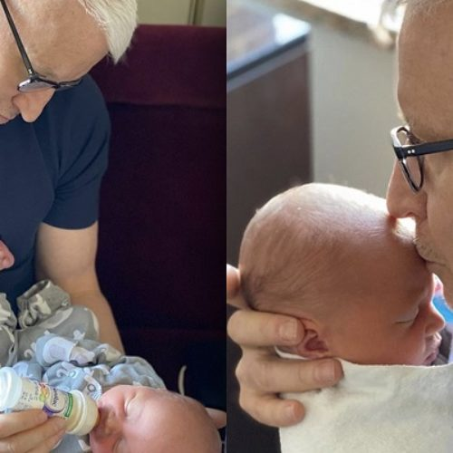"""I have become a father."" Anderson Cooper announces birth of baby boy, Wyatt"