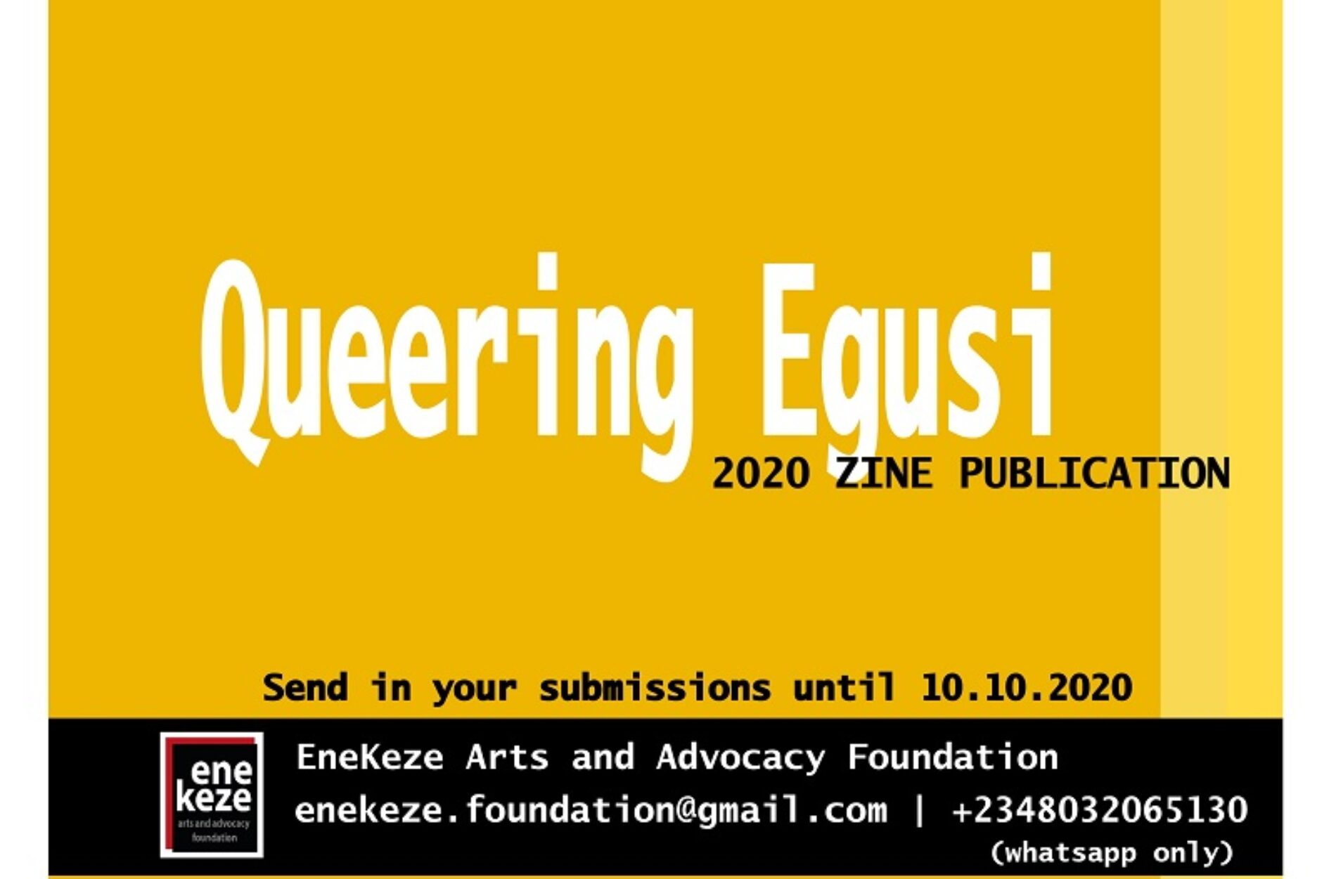 Are You A Creative With Something To Say? 'Queering Egusi' Wants Your Voice