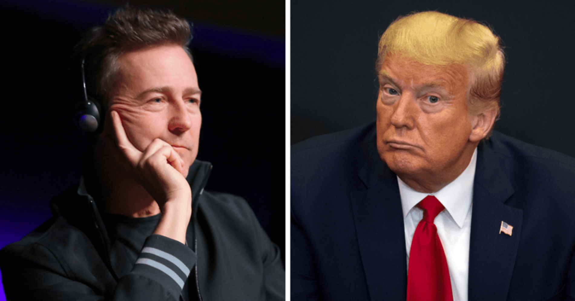"""""""He's A Whiny, Sulky, Petulant, Grinchy, Vindictive Super-soft B***h!"""" Actor Edward Norton posts a scathing attack on Donald Trump"""