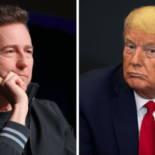 """He's A Whiny, Sulky, Petulant, Grinchy, Vindictive Super-soft B***h!"" Actor Edward Norton posts a scathing attack on Donald Trump"