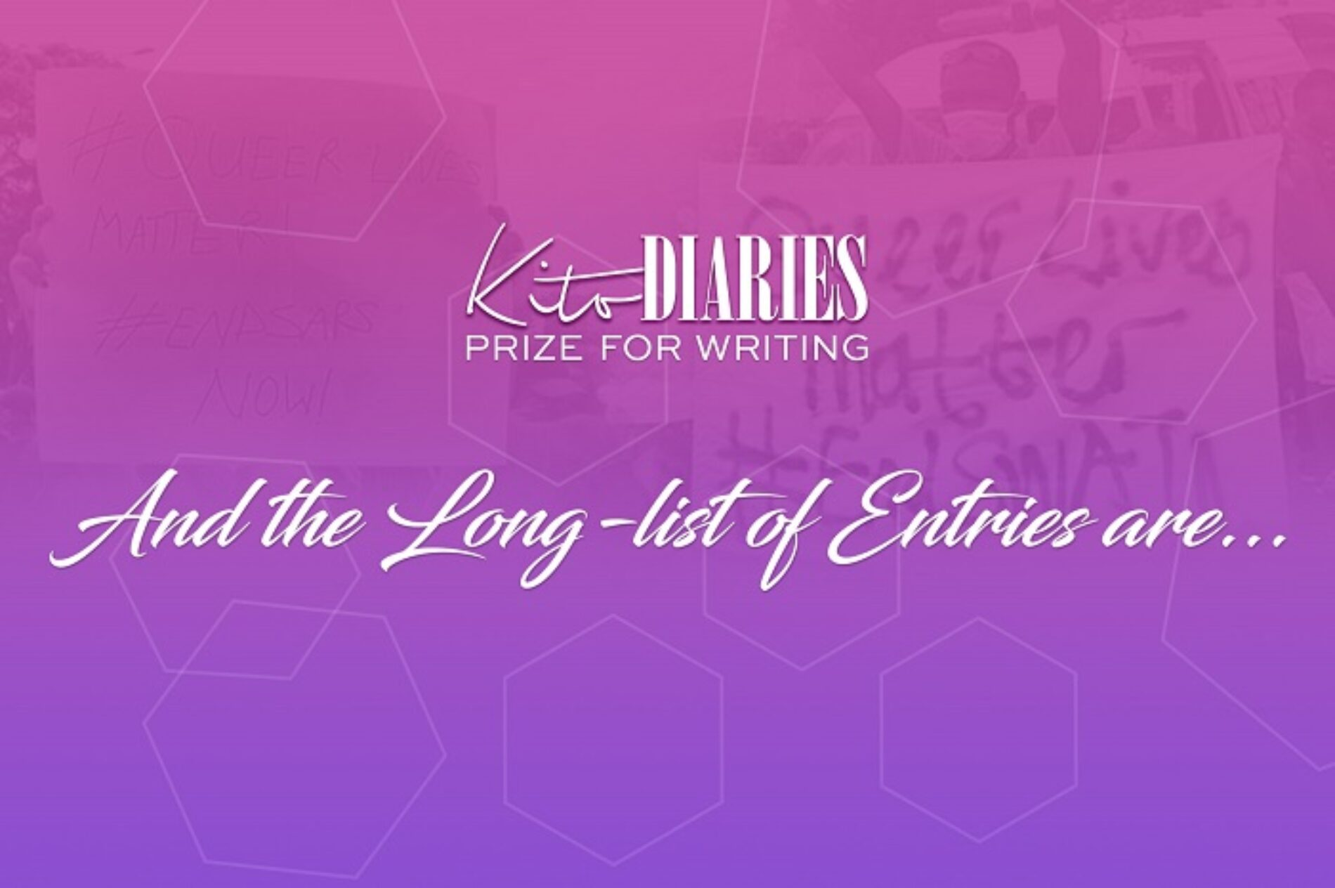 KITO DIARIES PRIZE FOR WRITING: AND THE LONGLIST OF ENTRIES ARE…