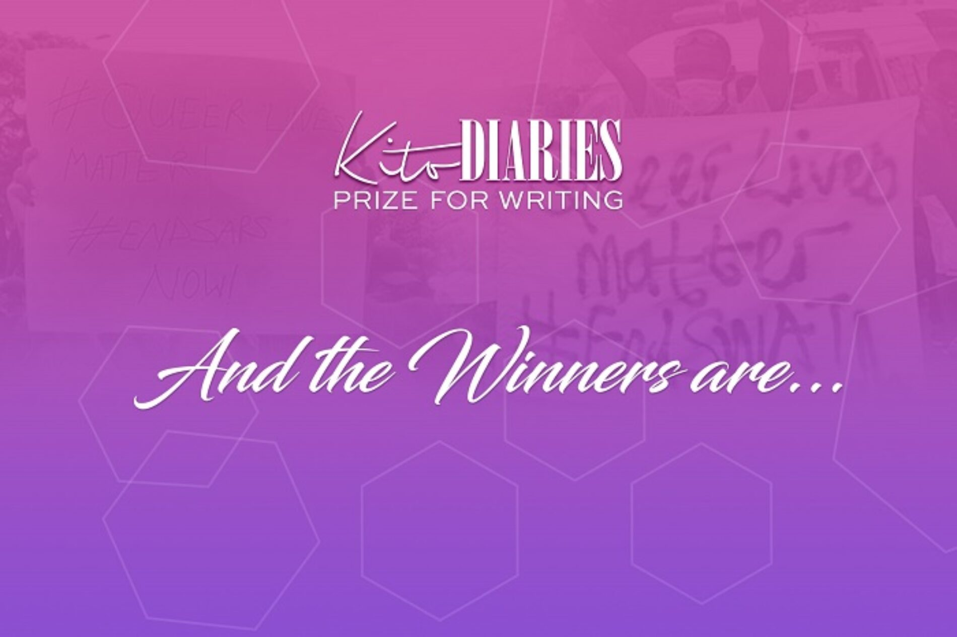 KITO DIARIES PRIZE FOR WRITING: AND THE WINNERS ARE…