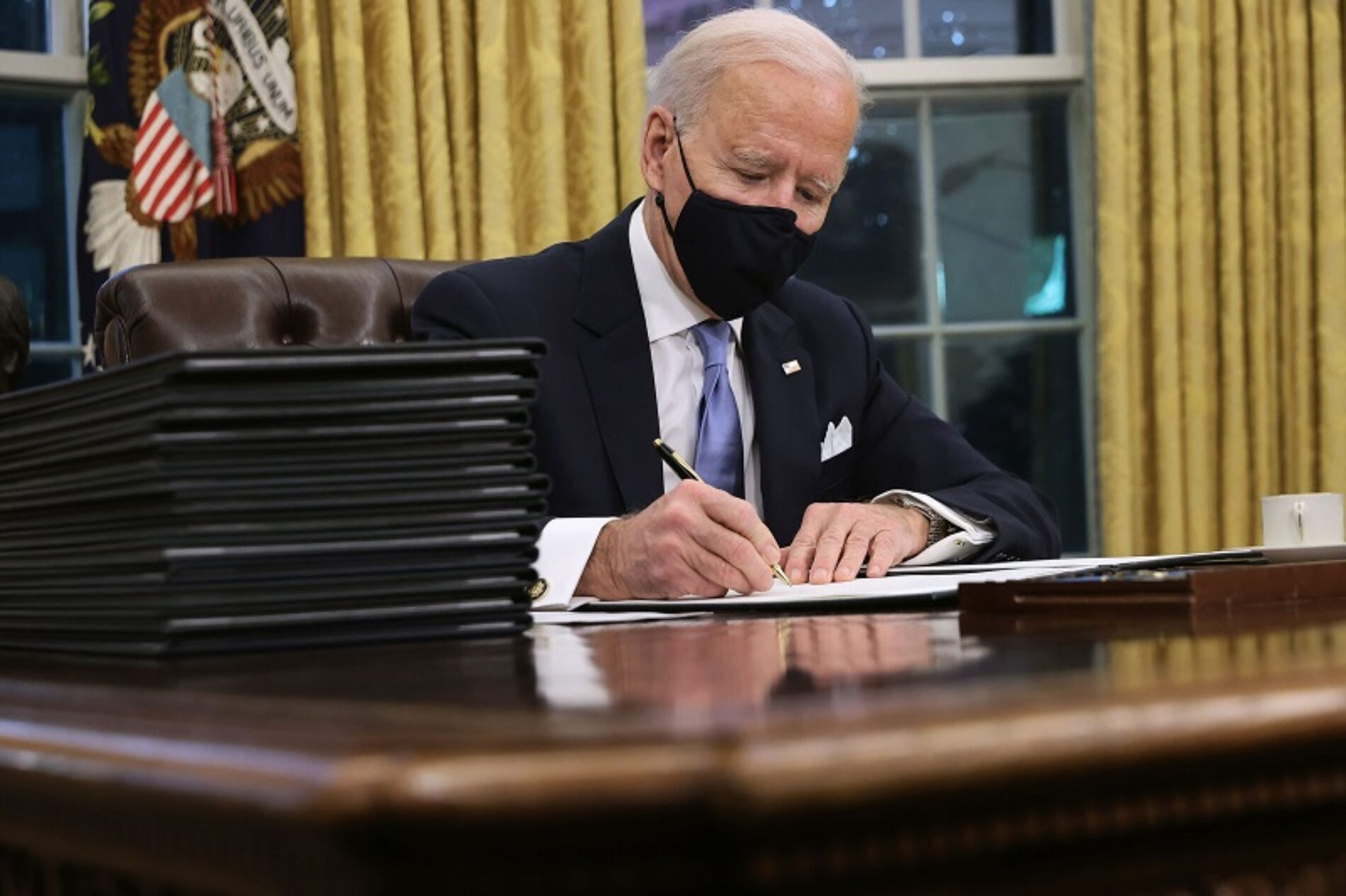 President Joe Biden Starts First Day Of Work By Signing Order Against Anti-LGBTQ+ Discrimination In America