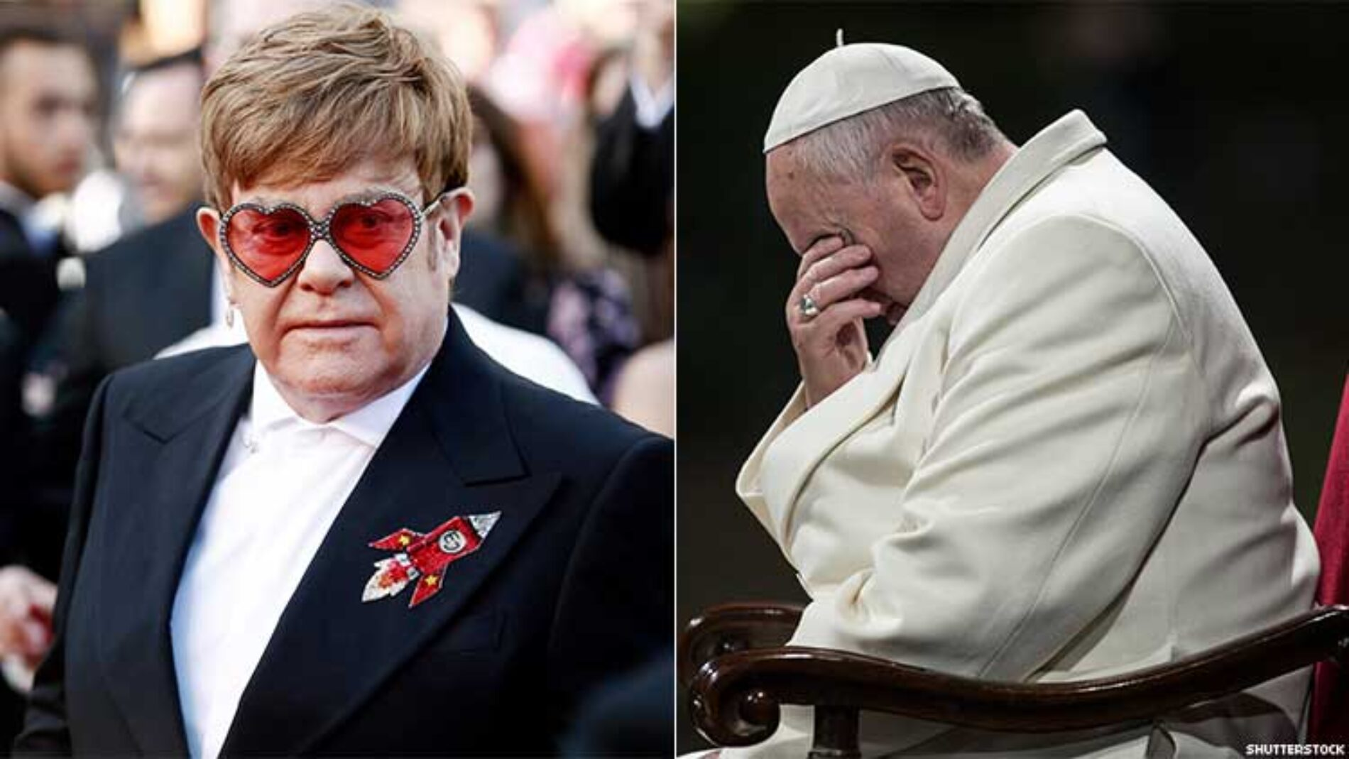 """Elton John slams Vatican for """"investing millions"""" in Rocketman and still refusing to bless same-sex marriages"""