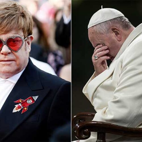 "Elton John slams Vatican for ""investing millions"" in Rocketman and still refusing to bless same-sex marriages"